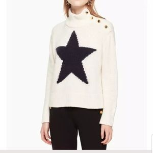 Kate Spade Broome Street Cashmere Star Sweater-NEW